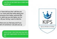 sexual harassment at KIPS campuses
